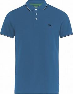 Niebieska koszulka polo Duke Of London z bawełny z krótkim rękawem