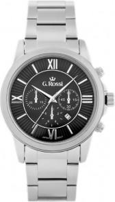 Gino Rossi ZEGAREK MĘSKI G. ROSSI - 6846B Srebrny