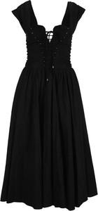 Czarna sukienka Philosophy di Lorenzo Serafini rozkloszowana