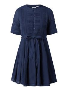 Granatowa sukienka Superdry z dekoltem w kształcie litery v z krótkim rękawem mini