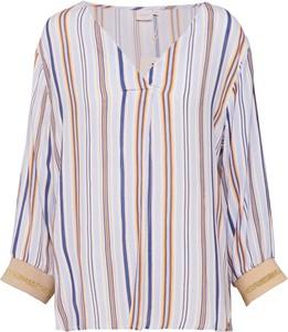 Bluzka Cream z dekoltem w kształcie litery v z długim rękawem