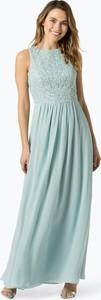 Zielona sukienka VM w stylu glamour z szyfonu bez rękawów
