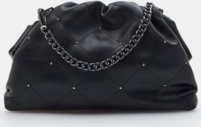 Czarna torebka Mohito w stylu glamour średnia