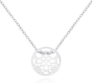 Irbis.style srebrny naszyjnik celebrytka kółko ażurowe