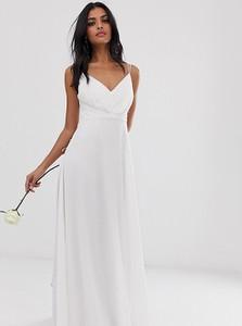Sukienka Asos Design z dekoltem w kształcie litery v na ramiączkach