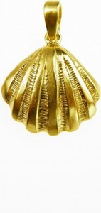 Venus Galeria Muszelka mała złota - zawieszka srebrna