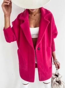 Różowy płaszcz Infinityfashion.pl w stylu casual