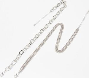 Cropp - 2 pack łańcuszków - Srebrny