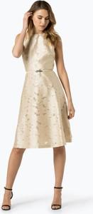 Złota sukienka Lauren Ralph Lauren bez rękawów midi