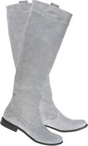 Kozaki Lafemmeshoes przed kolano z zamszu w stylu casual