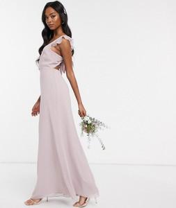 Sukienka Maids To Measure maxi z dekoltem w kształcie litery v