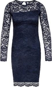 Sukienka Guess z długim rękawem dopasowana mini