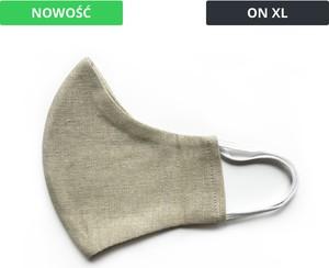 UlubionaMaseczka.pl Lniana męska XL maseczka ochronna wielorazowa ergonomiczny kształt light khaki On XL
