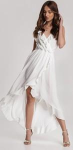 Sukienka Renee maxi z dekoltem w kształcie litery v kopertowa