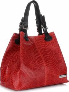 Czerwona torebka VITTORIA GOTTI w stylu casual do ręki
