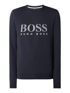 Granatowa bluza Hugo Boss z nadrukiem