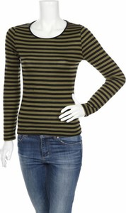 Zielona bluzka We z długim rękawem z okrągłym dekoltem