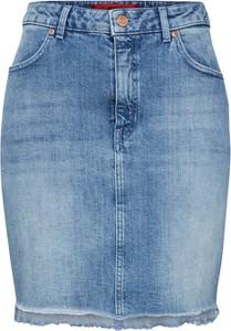 Niebieska spódnica Hugo Boss w stylu casual z jeansu