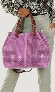 Fioletowa torebka Merg na ramię w wakacyjnym stylu