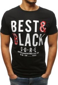 Czarny t-shirt Dstreet