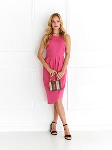 Różowa sukienka Top Secret midi