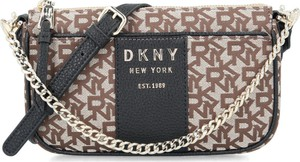 Torebka DKNY ze skóry z nadrukiem