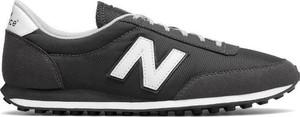 Czarne buty sportowe New Balance w sportowym stylu ze skóry sznurowane