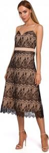 Sukienka MOE z dekoltem w kształcie litery v midi