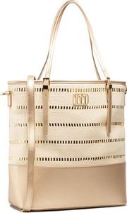 Złota torebka Monnari matowa na ramię w wakacyjnym stylu