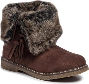 Brązowe buty dziecięce zimowe XTI
