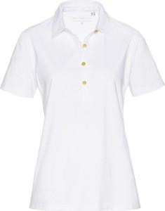 T-shirt bonprix bpc selection z krótkim rękawem z kołnierzykiem z bawełny