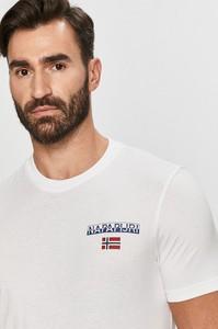 T-shirt Napapijri z bawełny z krótkim rękawem