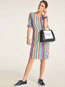 Sukienka Heine z okrągłym dekoltem mini