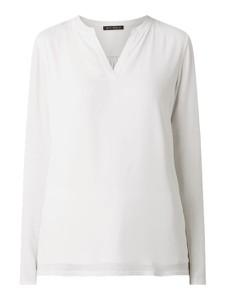 Bluzka Betty Barclay z szyfonu z dekoltem w kształcie litery v z długim rękawem