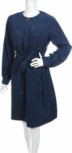 Niebieska sukienka People Tree mini z długim rękawem