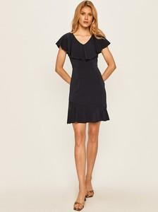 Sukienka Vero Moda mini z tkaniny z dekoltem w kształcie litery v