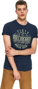 T-shirt Top Secret z nadrukiem z krótkim rękawem