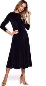 Czarna sukienka MOE z bawełny midi