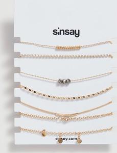 Sinsay - Bransoletki z koralikami - Beżowy