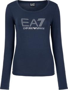 Bluzka EA7 Emporio Armani z długim rękawem