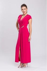 Sukienka Semper maxi z krótkim rękawem