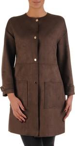 Brązowy płaszcz POLSKA w stylu casual