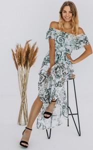Sukienka Promese w stylu boho maxi z krótkim rękawem