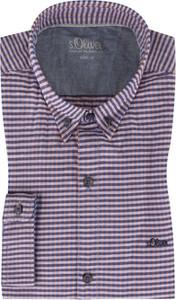 Koszula S.Oliver z bawełny z kołnierzykiem button down z długim rękawem