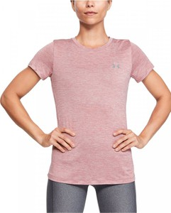 Różowy t-shirt Under Armour z dzianiny