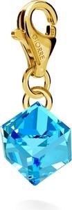 GIORRE SREBRNY CHARMS KAMIEŃ SWAROVSKI 925 : Kolor kryształu SWAROVSKI - Aquamarine, Kolor pokrycia srebra - Pokrycie Żółtym 24K Złotem