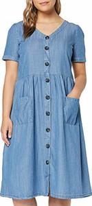 Sukienka amazon.de z dekoltem w kształcie litery v midi