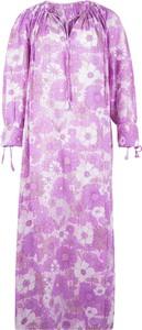Sukienka Antik Batik z długim rękawem z dekoltem w kształcie litery v maxi