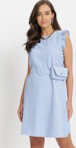 Sukienka born2be mini z okrągłym dekoltem w stylu casual