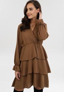Sukienka born2be mini z długim rękawem